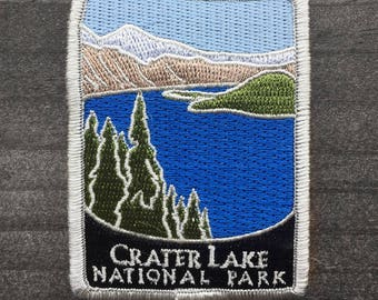 Crater Lake National Park Souvenir Patch Traveler Series Iron-on Oregon