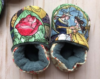 CUSTOM Beauty and the Beast Soft Soled Shoes
