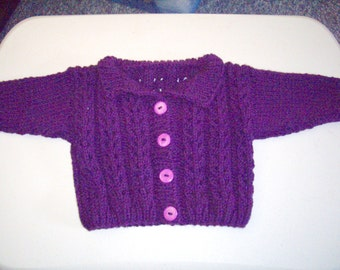 pattern-Baby Girl's Lacy Cardigan