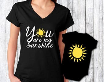 Personalized gifts by jenuinegraphics on etsy birthday gift for mom mom and baby gift mom and baby shirt set negle Images