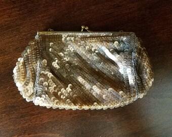 Vintage Sequin Clutch Purse