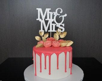 Mr & Mrs Cake Topper, Wedding Cake Topper, Bridal Shower, Mr and Mrs Topper, Wedding Sign, Wedding Cake