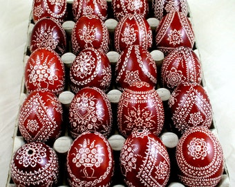 easter egg, chicken eggs, pysanka, hand decorated, kroszonka, polish pysanky, naturally dyed, easter eggs