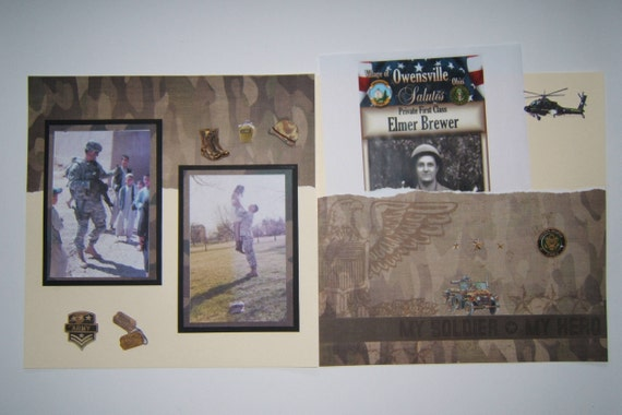 Army Scrapbook Layout Army Pages Military Pages Military