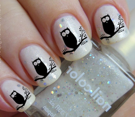 Black Owl Nail Art Owt Owls In A Tree Familiar Symbols Black