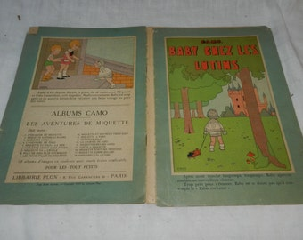 1929 French Children's book by Camo- The Adventures of Miquette  - Baby and the Leprecauns - great illustrations - comic Book style     2-26