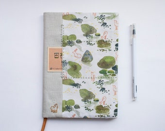 Nara Woods - adjustable A5 fabric bookcover