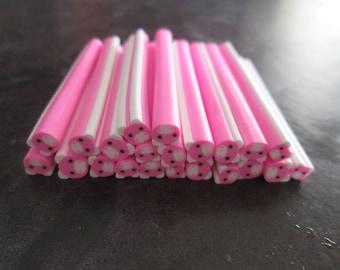 X 1 cane polymer clay pig size 50 x 5 mm
