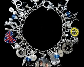 Sherlock Television Series Themed Charm Bracelet
