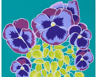 Pansies: Flower print 8x10