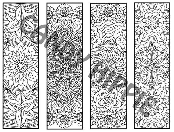 Färbung Lesezeichen Blume Mandalas Seite 2 Färbung für