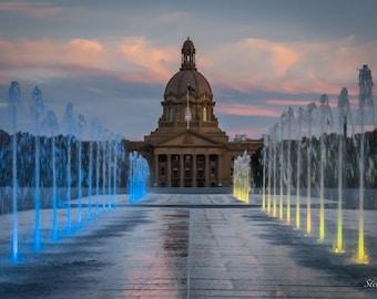 "Alberta Legislature Postcard 4""x6"" Edmonton, Alberta, Canada."