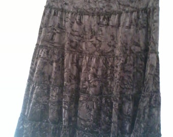 long Gypsy skirt out of velvet brown color