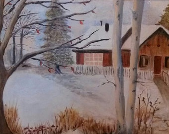 First Snow Oil Painting