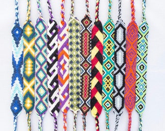 Threads of Hope Wide Flat Bracelets or Anklets - Handmade & Colorful!