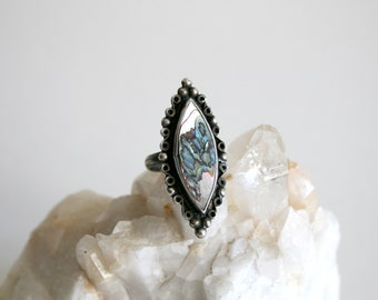Abalone Sterling Ring 6