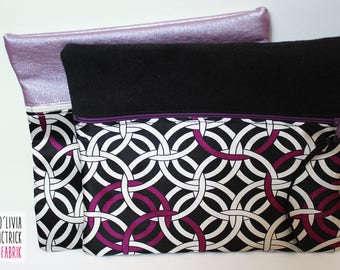 Bag multi-purpose fabric + retro patterned fabric with contrasting black #0064