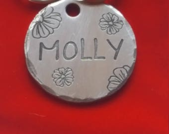 HandmadeA47-Free Shipping-Cat Tag-Dog Tag -Dog ID Tag - DOG Name Tag - Handmade BRASS-Copper-Nickel Silver- Pet Tag Hand Stamped