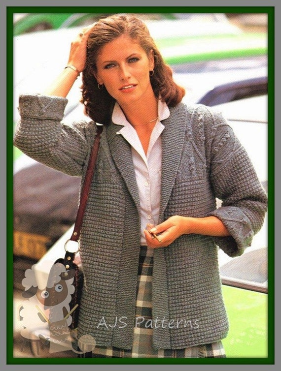 Pdf Knitting Pattern For Edge To Edge Jacket Instant