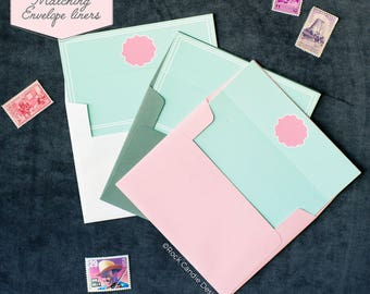 Printed Matching Envelope Liner   A2 Sized Liner   Yes Is What You'll Say To Be My Bridesmaid   Unique Way To Ask Your Best Friend   Card