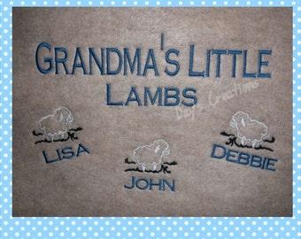 Grandma sweatshirt - Grandparent custom embroidered sweatshirt - Hooded Brag Sweatshirt - Plus size sweatshirt - grandma gift - Lamb Shirt