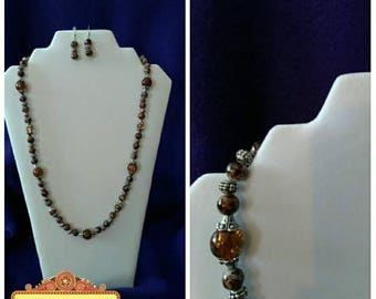 Brown Classic Jewelry Set