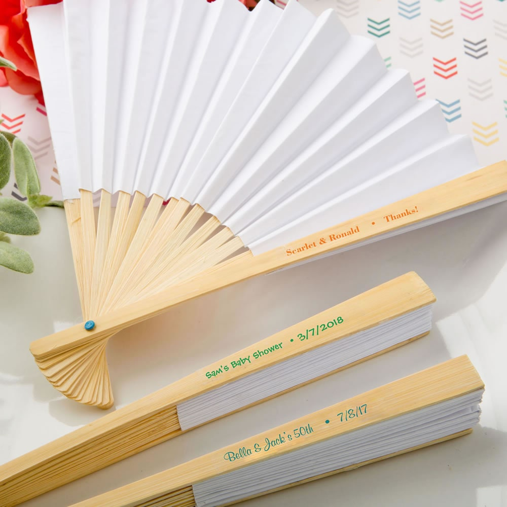 Fine Personalized Fans For Wedding Favors Crest - The Wedding Ideas ...