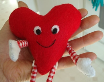 Little Heart People Valentine Felt Plush Doll