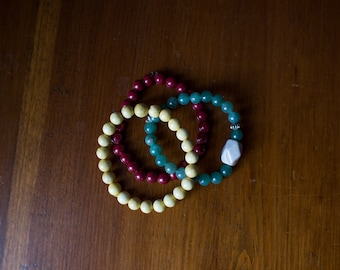 Natural bracelet set of 3