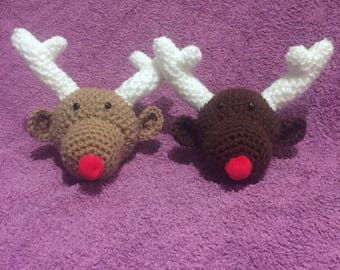 Crochet reindeer christmas tree decoration