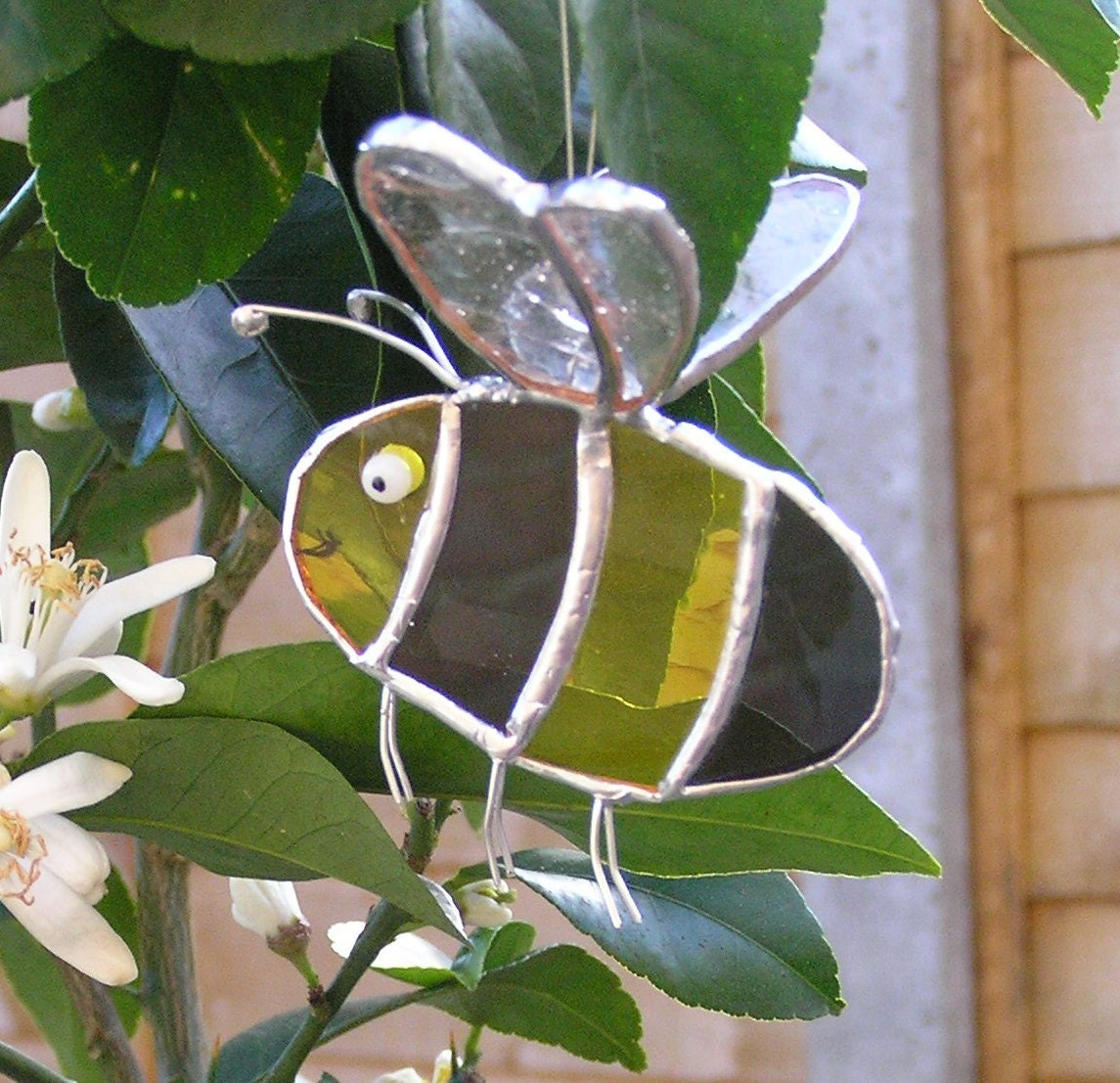 Stained Glass Bee Suncatcher MADE TO ORDER Lover Gift