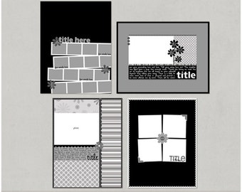 Mcturtle'icious - 8.5x11 Digital Scrapbooking Templates