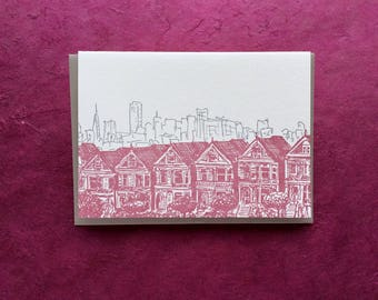 San Francisco - Eight letterpress note cards