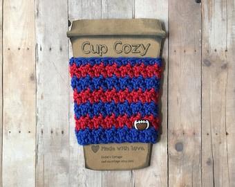 Buffalo Bills, Coffee Sleeve, Cup Cozy, Cup Holder, Coffee Cup Cozy, Cup Sleeve, Coffee Cozy, Coffee Cup Sleeve, Reusable Coffee Sleeve