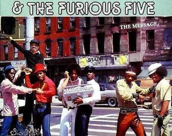 GRANDMASTER FLASH & The Furious Five ThE MESSAGE Factory SeAleD Vinyl Lp Record Album 1982 Sugar Hill Sh 268 Old School Rap Hip Hop