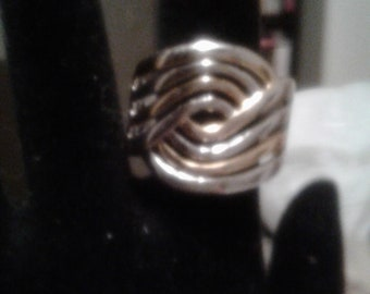 Men's Sterling Silver With Gold Accent/Marked 925