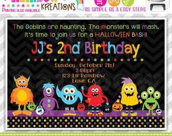 512: DIY - Monster Mash 2 Party Invitation Or Thank You Card