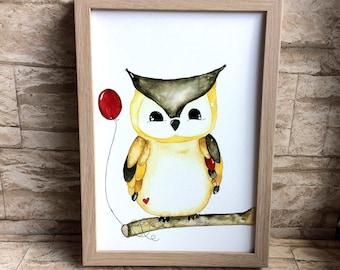 Nursery picture OWL
