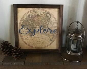 Explore Map Decor