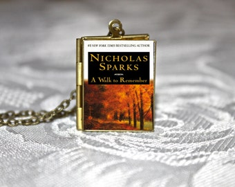 A Walk to Remember Book Locket