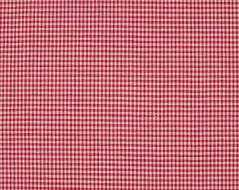 Gingham red 2mm 100% cotton