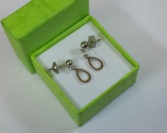 925 Silver studs earrings drop shape SO124