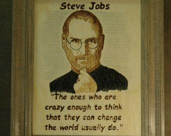 Steve Jobs - portrait and quote