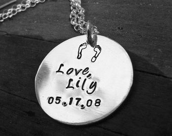 I am With You Always... Solid Sterling Silver Remembrance/Loss Necklace, Memorial, Choice of Fonts, Finish, Style Your Own Phrase or Message