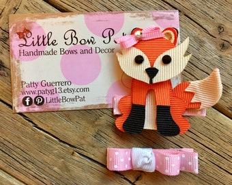 Roxy Foxy... Woodland Ribbon Sculpture Hair Bow Set