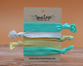 Hair Tie Display Cards for Packaging Retail | 48 CARDS |Wrap Bracelets | Necklaces| HOLDS 5 Ties | DS0133