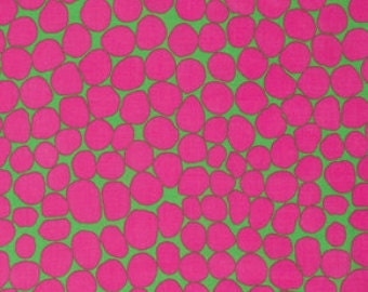Brandon Mably for Rowan and Westminster Fibers - Jumble - Hot Pink - Fat Quarter FQ Cotton Quilt Fabric 217