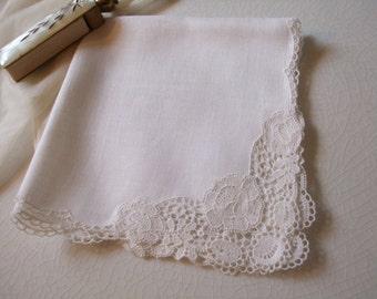 Handkerchief Lace Linen Hanky Bridal Wedding June Bride