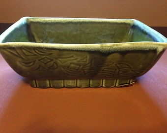 California Pottery Green Rectangular Planter 4809