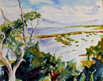 ORIGINAL Assateague Salt Marsh painting seascape